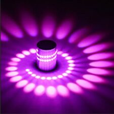 3W RGB LED Light Bulb Modern Aluminum Spiral Ceiling Hallway Porch Indoor Lamp