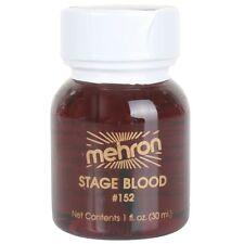Mehron Stage Blood Bright Arterial or Dark Venous Halloween Fake Blood- M152 30ml