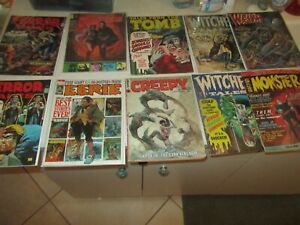 big lot of old monster magazines