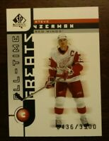 2001-02 SP Authentic ALL-TIME GREATS STEVE YZERMAN /3500 NHL DETROIT RED WINGS
