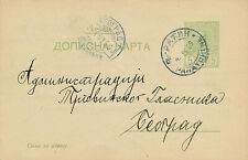 SERBIA- POSTAL CARD-POSTAL STATIONARY- CIRCA 1905-09- TO TEORPRAG FROM PATNH