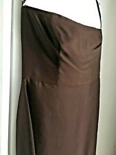 Ann Taylor 100% Silk Satin Sheath Gown and Matching Cover-up Size 14