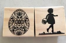 2 Craft Smart Rubber Stamps-Easter Motif-Euc