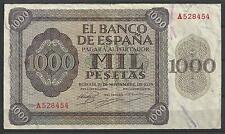 BILLETE ESPAÑA 1000 MIL PESETAS BURGOS MAYO DE 1936 SERIE ¨A528454¨ MBC