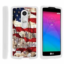 For LG Destiny L21G | Power L22C | Sunset L33L Hard SnapOn Case + Tempered Glass