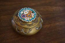 Antique or Vintage Italian Micro Mosaic Floral Box