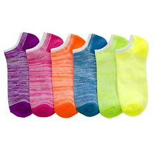 12 pairs Women's Neno Assorted Colors Top Ankle Spandex Sock Low Cut 6-8 9-11