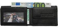LEDER Geldbörse PIEPEN schwarz 10,5x 7,5 cm 4 Karten Geldbeutel, Portemonnaie