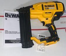 DEWALT 20V MAX 18 Gauge Cordless Brad Nailer (Tool Only) DCN680B New