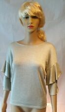 Jane Norman Silver Frill Sleeve Jumper - SIZE 8 - RRP: £25