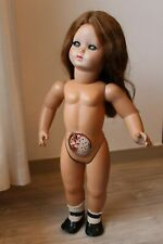 Magnifique poupée ancienne à identifier 42 cm avec cheveux naturels- à restaurer