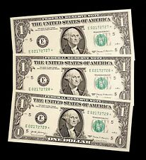 UNC 2017 Federal Reserve Star Notes United States Richmond 3 Consecutive Dollar