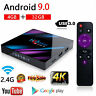 New H96 MAX 4GB+64GB Android 9.0 Quad Core TV Box 4K HD Media Player WIFI Mini