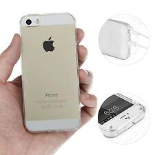 TPU All Clear Case iPhone 5 5S SE Hülle Silikon Schale Bumper Cover Transparent