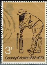 UK Sport County Cricket stamp 1973