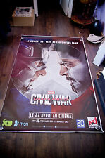 CAPTAIN AMERICA CIVIL WAR A 4x6 ft Bus Shelter D/S Movie Poster Original2016