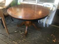 Antique Style Round Dining Table