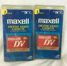 Maxell Mini DV 60 Min Tapes - 2 Packs - Digital Video Cassette - New Sealed