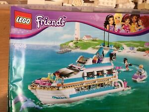 Lego Friends 41015 Dolphin Cruiser Complete Set With Instructions (RR)