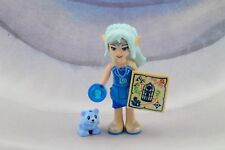 Lego Mini Figure Elves Naida Riverheart and Lil Blu Bear Cub from Set 41187 New