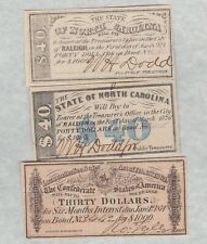 More details for three $30 & $40 usa bond certificate banknotes in near mint condition.