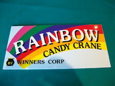Candy Crane Skill Claw Arcade Game Markee Header Graphics Marquee Plexi
