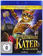 3D Blu-ray * DER GESTIEFELTE KATER - DIE WAHRE GESCHICHTE IN 3 D # NEU OVP %