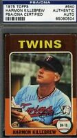 HARMON KILLEBREW VINTAGE TWINS SIGNED 1975 TOPPS PSA/DNA CERTIFIED AUTOGRAPH