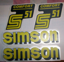 S51,Comfort,Simson,Aufklebersatz,Aufkleber,Oldtimer,Ostalgie,S51 Comfort,DDR