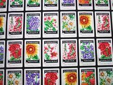 Flower Market Panel Cotton Quilting Fabric  60cm x 110cm  Robert Kaufman
