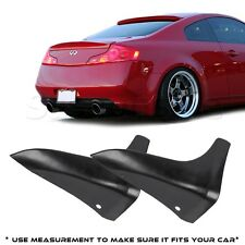 Made for 03-06 Infiniti G35 2dr Coupe ONLY Rear Bumper Lip Mud Guards Spats PU