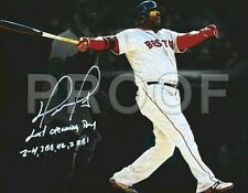 "David Ortiz Boston Red Sox 11 X 14"" Inch, Signed RP Canvas Wall Art."