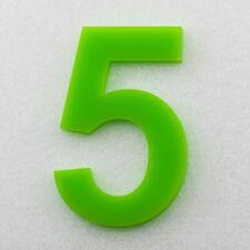 Hausnummer Hochglanz Acryl Hellgrün  6H02 - Türnummer - Post Nummer - Plexiglas