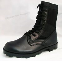 Men's Boots Jungle GI Type Black Tactical Combat Military Work Shoes, Sizes:6-15