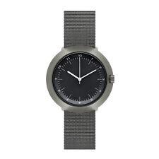 """Normal Timepieces """"Fuji"""" Cuarzo Acero IP Gris Negro Hombre Nylon Reloj"""