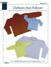 New ListingKnitting Pattern by Design by Louise Chelsea's Aran Pullover