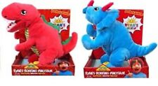 Ryan's World Ryan's Roaring Dinosaur 13-Inch Plush Figure Triceratops and T-Rex
