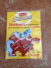 magnet carte europe savanne brossard LETTONIE BIELORUSSIE LITUANIE ESTONIE