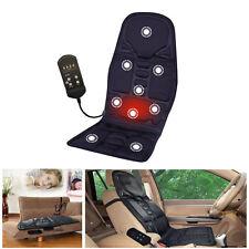 12V Heat Massage Back Chair Cushion Pad Pain Lumbar Neck Shoulder Massager