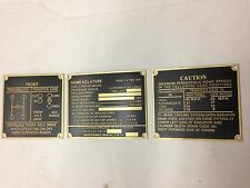 Jeep Ford GPW Early Brass Data Plate Set G-503
