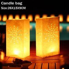 50pz Carta Borse Sacchetti per Candele Diffusione Luce Porta candela Lanterna