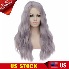 Womens Long Wavy Curly Cosplay Lolita Full Wigs Costume Party Synthetic Hair Wig
