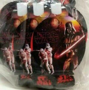 2009 STAR WARS 8 Serpentins BLOWOUTS Darth Vader & Stormtroopers Lot of 3Pk (K6)