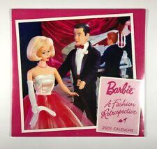 Vintage A Fashion Retrospective Barbie 2001 Calendar New Sealed