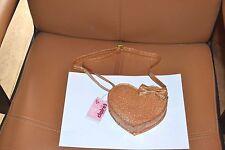 sac neuf claire's or en forme de coeur noeud devant bandouilliere