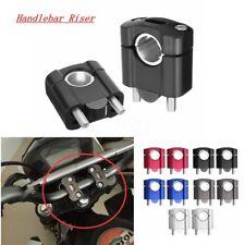 "2x CNC Morsetto Monte Riser Clamp Manubrio Per 1/8"" 7/8"" 28mm 22mm Manubrio Moto"