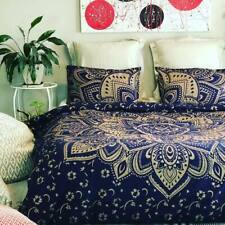 Indian Cotton Ombre Mandala Queen Size Bedding Set Ethnic Bed Sheet With Pillows