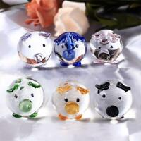 Crystal Pig Figurine Glass Paperweight Blown Decor Home Hand Figurines Miniature