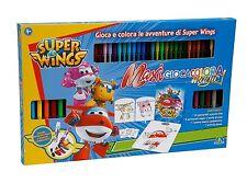 Giochi Preziosi Super Wings Maxi Gioca Colora Set con Pennarelli per Disegno