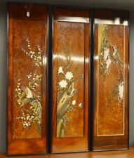 Asian Panels Carved Birds / Floral / Tree Scene Lot 259